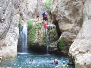 Raghaz Canyoning in Fars province